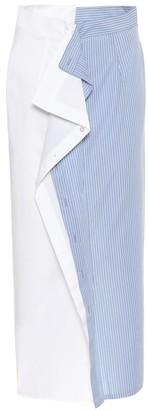 MM6 MAISON MARGIELA Cotton-poplin midi skirt