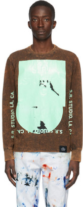 S.R. STUDIO. LA. CA. Black Hand-Bleached DSAP. 1. OS T-Shirt