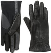 Isotoner Women's Smartouch Stretch Leather Glove with Partial Back Gather