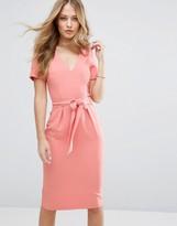 Oasis Premium Belted Pencil Dress