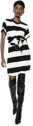 Alice + Olivia Jasset Tie Waist Mini Dress