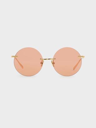 Charles & Keith Round Rimless Sunglasses