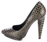 Roberto Cavalli Embossed Metallic Pumps