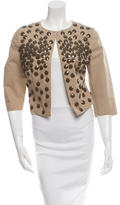 Alberta Ferretti Embellished Cropped Jacket