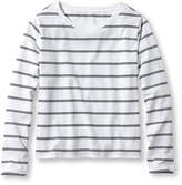 L.L. Bean Saturday T-Shirts, Boatneck Long-Sleeve Stripe