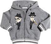Dolce & Gabbana Designers Patch Cotton Hooded Sweatshirt