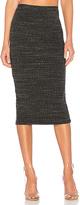 Monrow Rib Pencil Skirt in Gray