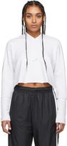 Nike Grey Yoga Luxe Cropped Hoodie