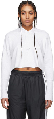 Nike Grey Yoga Luxe Cropped Hoodie