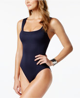 MICHAEL Michael Kors Ribbed One-Piece Swimsuit