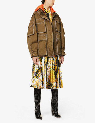 Versace Hooded cotton-twill jacket