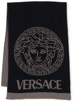 Versace Reversible Wool Blend Scarf