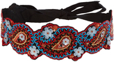 Andrew Gn Floral-embroidered belt