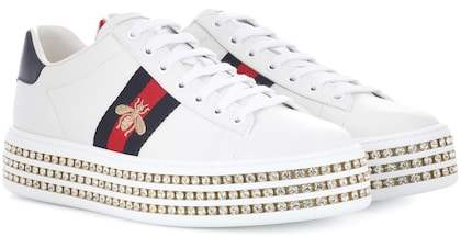 5ffa213c8dc0 Gucci Ace platform leather sneakers - ShopStyle