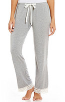Flora Nikrooz Snuggle Lace-Trimmed Jersey Sleep Pants