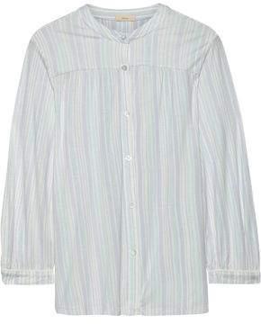 Eberjey Painted Stripes Printed Stretch-modal Pajama Top