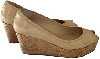 Jimmy Choo Beige Patent leather Sandals