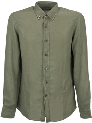Brunello Cucinelli Linen And Cotton Shirt With Button Down Collar