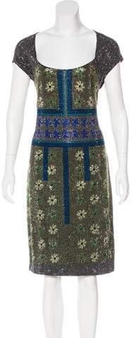 Versace Embellished Midi Dress