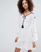 Vero Moda Long Sleeve Skater Dress With Tassel Detail