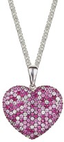 Effy Jewelry Effy 925 Sterling Silver Pink Sapphire Large Heart Pendant, 3.80 TCW