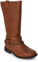 Kenneth Cole Reaction Kids Girls) Brown Danica Moto Boots
