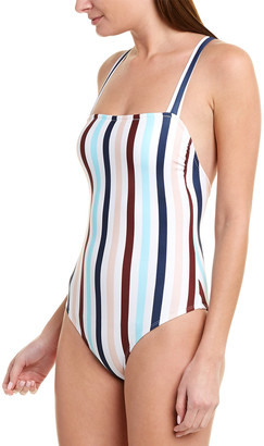 Shoshanna Swimwear Wide Strap One-Piece