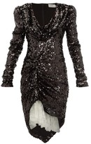 Preen by Thornton Bregazzi Karin Cowl-neck Sequinned Dress - Womens - Black