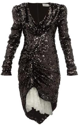 Preen by Thornton Bregazzi Karin Cowl-neck Sequinned Dress - Black