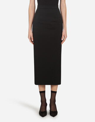Dolce & Gabbana Longuette Tube Skirt In Faille