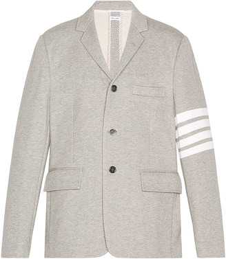 Thom Browne 4 Bar Unconstructed Suit Jacket in Light Grey | FWRD
