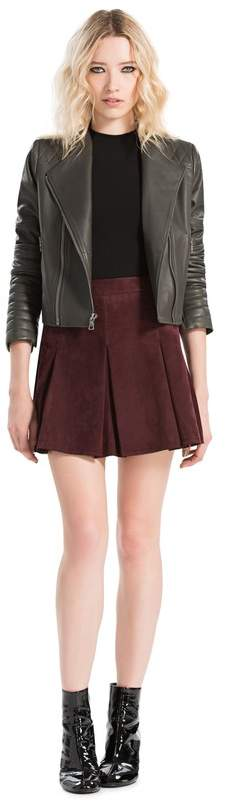 Alice + Olivia Gamma Leather Biker Jacket