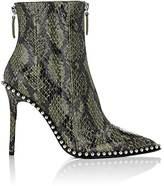 Alexander Wang Women's Eri Snakeskin Ankle Boots