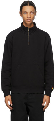 Carhartt Work In Progress Black Chase Half-Zip Sweatshirt