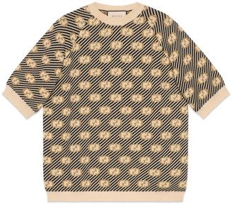 Gucci GG stripe wool jacquard top