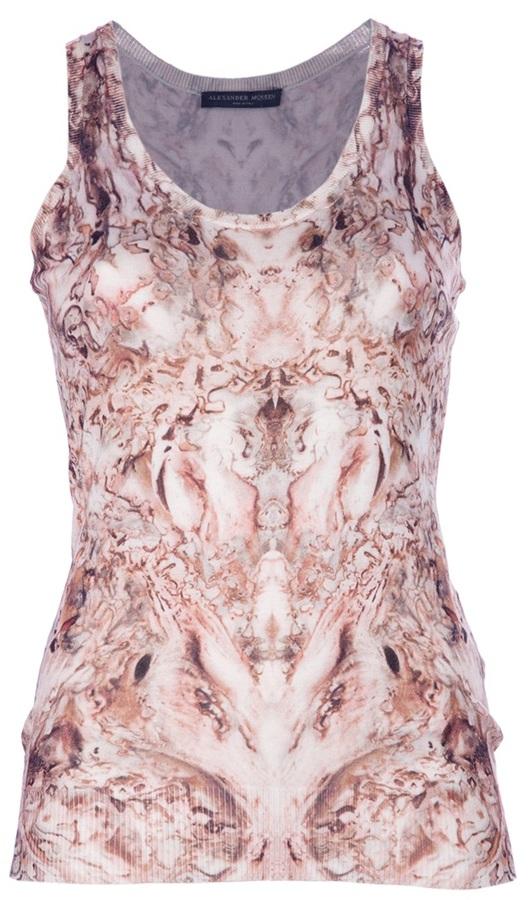 Alexander McQueen printed vest