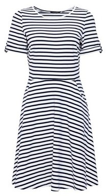 Dorothy Perkins Womens Navy Stripe T