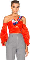 Peter Pilotto Paneled Taffeta Top