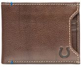 JACK MASON Jack Mason NFL Indianapolis Colts Stadium Leather Sliding 2-in-1 Wallet in Brown