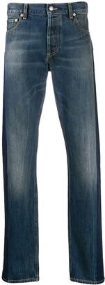 Alexander McQueen Side Tape Straight-Leg Jeans