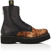 R 13 Women's Platform Ankle Boots-BLACK