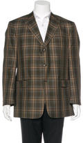 Burberry Plaid Wool Blazer