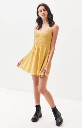La Hearts Smocked Mini Dress