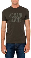 Armani Jeans Eagle Pattern Logo Tee