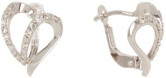 Breuning 14K White Gold Diamond Earrings - 0.159 ctw