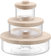 LSA International Connect Container Trio - Clear/Ash