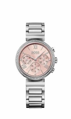 HUGO BOSS Classic Women Sport Womens Quartz Silver Chronograph Silver Stainless Steel Bracelet 1502401
