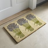 Crate & Barrel Lavender Bunch Doormat