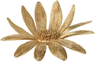 AERIN Marguerite Brass Flower - Gold