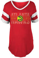 5th & Ocean Women's Atlanta Hawks Hang Time Glitter T-Shirt